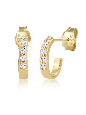 Ohrringe Creole Geo Topas Edelstein Klassisch 585 Gelbgold Elli Premium Gold