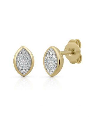 Ohrstecker 585/- Gold Brillant weiß Brillant 0,7cm Glänzend 0,020ct Orolino weiß