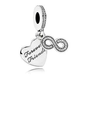 Pandora 791948CZ Charm-Anhänger Forever Friends Sterling Silber