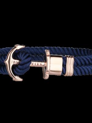Paul Hewitt Armband - Rose Gold Anker Marineblau - PH-PH-N-R-N