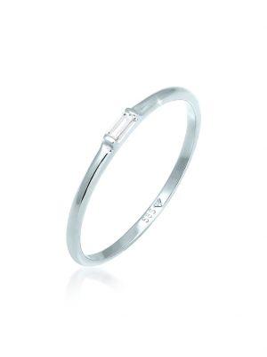Ring Stapelring Topas Rechteck Verlobung 585 Weißgold Elli Premium Weiß