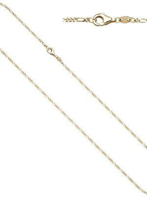 SIGO Figarokette 333 Gold Gelbgold diamantiert 1,7 mm 45 cm Kette Halskette Goldkette