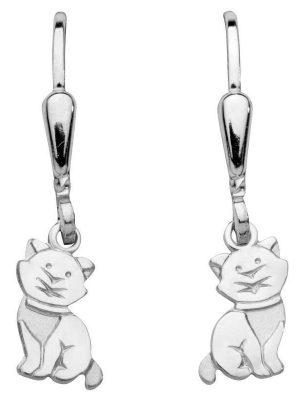 Schneider Basic Ohrringe - Silber - Katze hängend - SK39