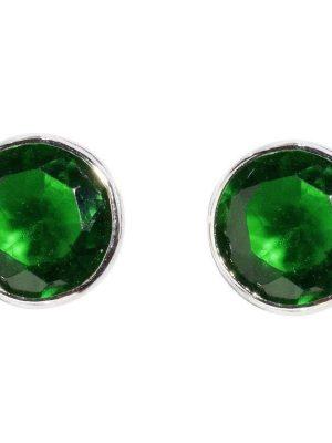 Schneider Basic Ohrstecker - Silber - Monatsstein Mai - SMO15 grün
