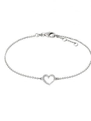 Stardiamant Armband - Herz - Brillant Weißgold 585 - D2645/W