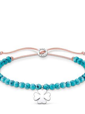 Thomas Sabo Armband - Türkise Perlen mit Kleeblatt - A1983-905-17-L20V