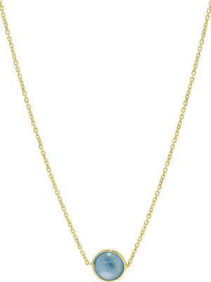 Valeria Damen-Kette 375er Gelbgold 1 Farbstein