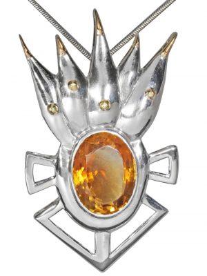 Apophyllit Anhänger 925 Silber 1001 Diamonds grün