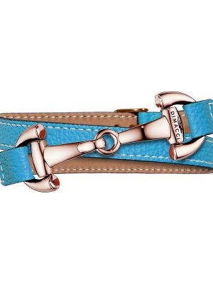 Armband aus Edelstahl und Leder