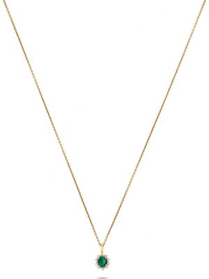 CHRIST Gold Damen-Kette 585er Gelbgold 1 Smaragd CHRIST GOLD gelbgold