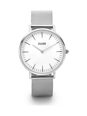 Cluse Damenuhr Boho Chic Mesh Silver/White CW0101201002