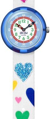 Flik Flak FBNP116 Mädchen-Uhr Love My Heart Analog Quarz mit Textil-Armband