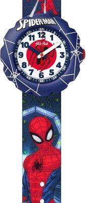 FlikFlak FLSP012 Jungen-Uhr Spider-Man Analog Quarz Textil-Armband
