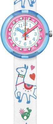 FlikFlak FPNP055 Mädchen-Uhr Como Se Llamal Analog Quarz Textil-Armband