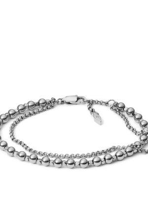 Fossil JA6775040 Armband Damen Multi Beaded Silber-Ton
