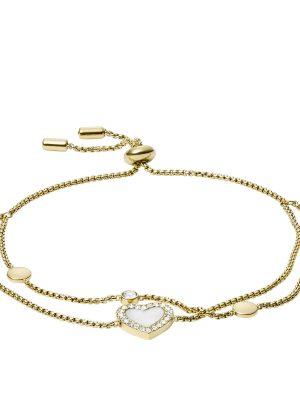 Fossil JF03216710 Armband Damen Heart Duo Edelstahl Gold-Ton