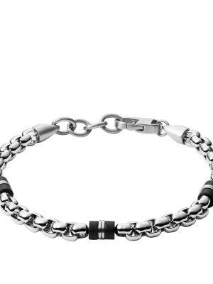 Fossil JF03313040 Armband Herren Black Marble Edelstahl