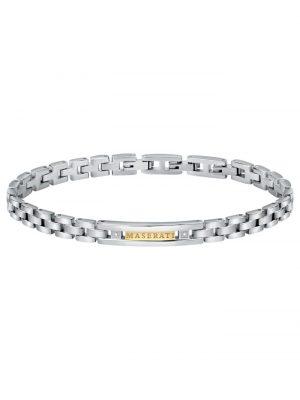 Herrenarmband Edelstahl Maserati Silberfarben