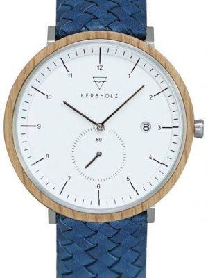 Kerbholz Uhren - Anton Oak Woven Marine