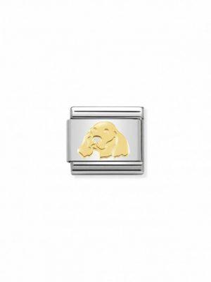 Nomination Charm - Englischer Setter - 030162/55 gold