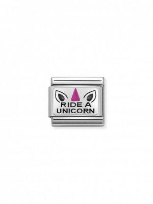 Nomination Charm - Ride a Unicorn - 330208/21
