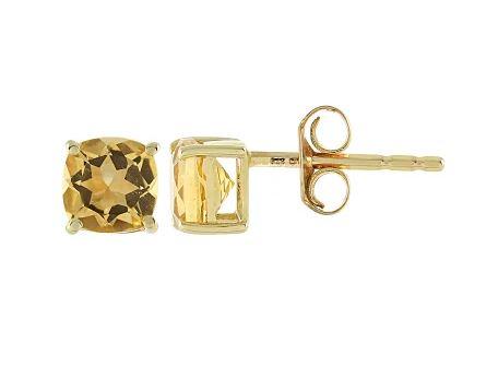Ohrringe aus Gold mit Citrin