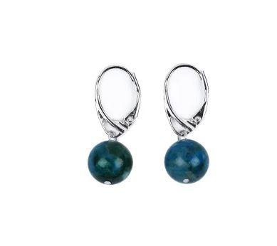 Ohrringe aus Silber mit Chrysokoll
