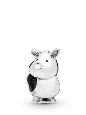 Pandora 798023 Charm Rino the Rhinoceros Sterling-Silber