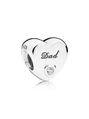 Pandora Charm - Herz Dad - 796458CZ
