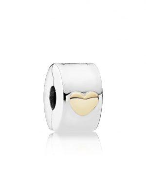 Pandora Charm - Klassisches Herz Clip - 792080 bicolor
