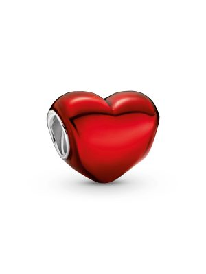 Pandora Charm - Metallic Red Heart - 799291C02 rot
