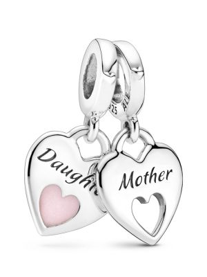 Pandora Charm - Mother and daughter hearts - 799187C01 silber