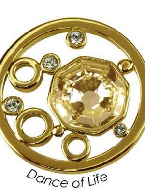 Quoins Anhänger - Dance of Life - QMOK-05L-G-GL gold