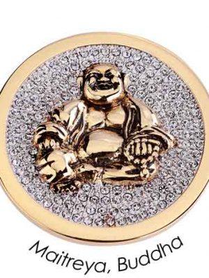 Quoins Charm - Jewelz Maitreya, Buddha- QMOA-28L-G gold