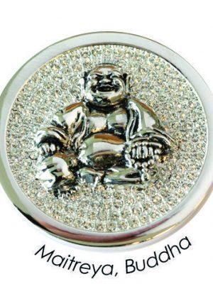 Quoins Charm - Maitreya, Buddha - QMOA-28L-Z silber