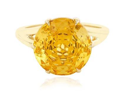 Ring aus Gold mit Citrin