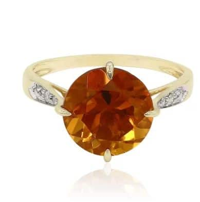 Ring aus Gold mit Mandarin Citrin