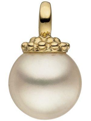 SIGO Anhänger 585 Gold Gelbgold 1 Süßwasser Perle Perlenanhänger