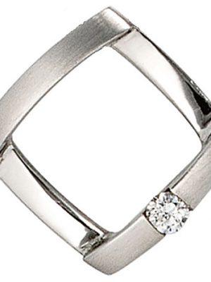 SIGO Anhänger 950 Platin matt 1 Diamant Brillant 0,03ct. Platinanhänger