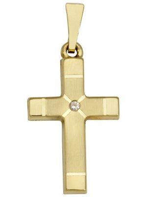 Schneider Basic Anhänger - Kreuz - Gold - K16 gold