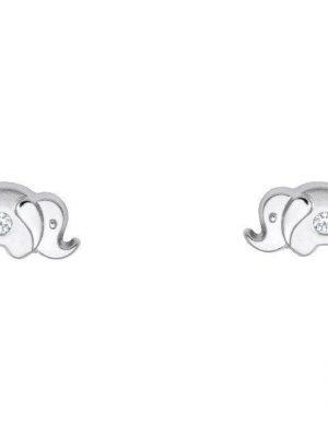 Schneider Basic Ohrringe - Weißgold - Elefant - KI18 silber