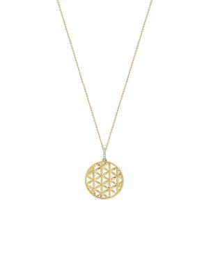 Stardiamant Anhänger - Blume Brillant Gelbgold 585 - D3180/G gold