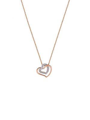 Stardiamant Anhänger - Herz Brillant Roségold-Weißgold 585 - D5048/RW roségold