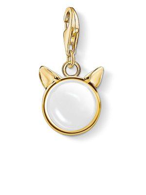 Thomas Sabo 1841-413-14 Charm-Anhänger Katzenohren Gold Vergoldet