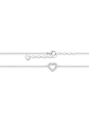 Thomas Sabo AK0007-051-14 Fusskette Damen Herz Sterling-Silber 27 cm
