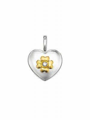 Thomas Sabo Anhänger - Sweet Diamonds - Herz SD_PE0009-179-14 bicolor