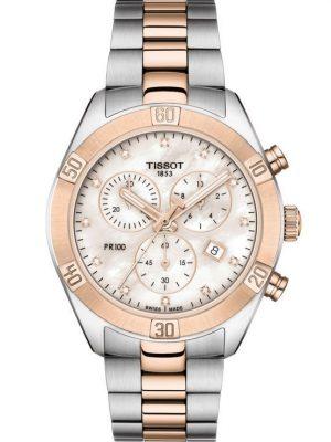 Tissot Uhren - PR 100 Sport Chic Chronograph - T1019172211600 bicolor