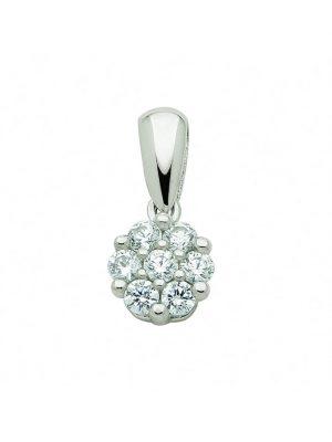 1001 Diamonds Damen Goldschmuck 585 Weißgold Anhänger mit Zirkonia 1001 Diamonds silber