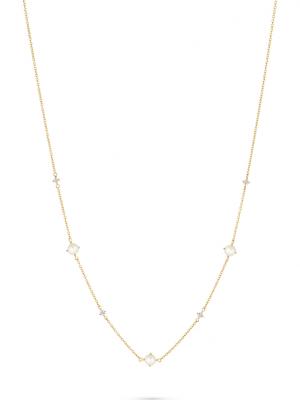 CHRIST Damen-Kette 375er Gelbgold 4 Diamant CHRIST C-Collection gelbgold