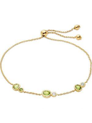CHRIST Gold Damen-Armband 375er Gelbgold 2 Peridot CHRIST GOLD gelbgold
